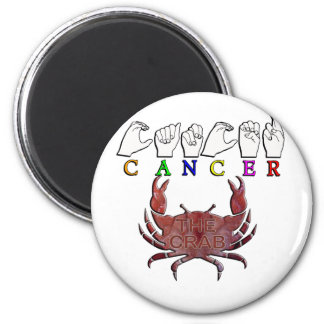 CANCER ZODIAC SIGN FINGERSPELLED MAGNET