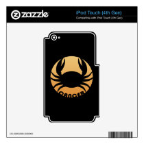 Cancer Zodiac Sign iPod Touch 4G Decal