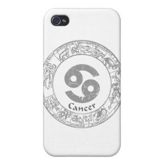 Cancer Zodiac sign vintage Cases For iPhone 4