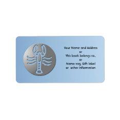 Cancer Zodiac Star Sign Premium Silver Label at Zazzle