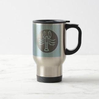 Cancer Zodiac Star Sign Premium Silver Travel Mug