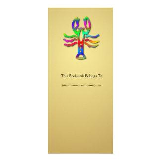 Cancer Zodiac Star Sign Rainbow Color Bookmark Rack Card