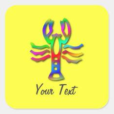 Cancer Zodiac Star Sign Rainbow Color Square Sticker at Zazzle