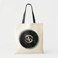 Cancer Zodiac Star Sign Universe Crafts & Shopping Tote Bag at Zazzle