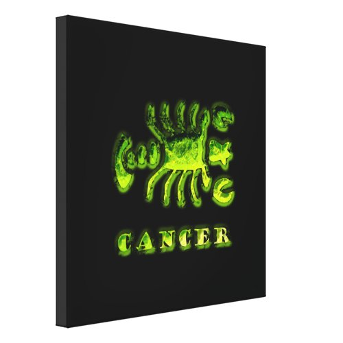 Cancer Zodiac Symbol Canvas Print