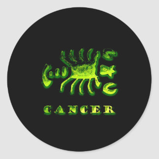 Cancer Zodiac Symbol Classic Round Sticker
