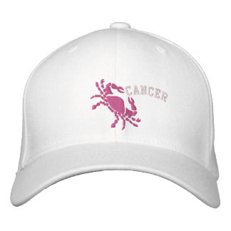 Cancer Zodiac Symbol Embroidery June 21 - July 22 Embroidered Baseball Hat