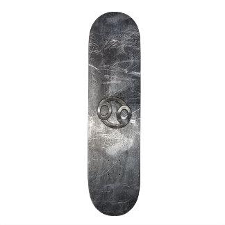 Cancer Zodiac Symbol in Distressed Decor Skateboard