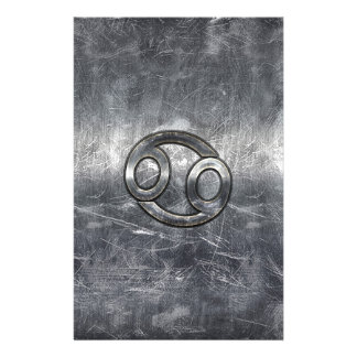 Cancer Zodiac Symbol in Industrial Style Stationery