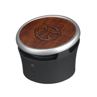 Cancer Zodiac Symbol on Mahogany Style Speaker