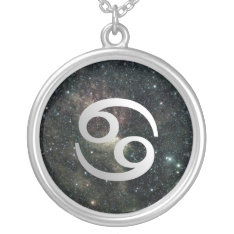 Cancer Zodiac Universe Sterling Silver Jewelry at Zazzle