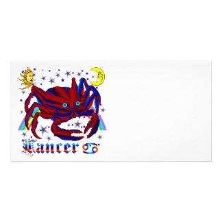 Cancer-Zodiac-V-1 Tarjeta Con Foto Personalizada