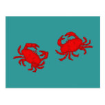 Cánceres crabs tarjetas postales