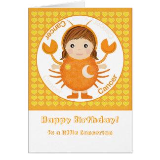Cancerian Girl - Happy Birthday Greeting Card