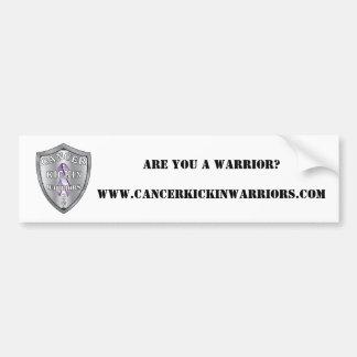 Cancerkickinwarriors-logotipo-PEQUEÑO, ES USTED Un Pegatina Para Auto
