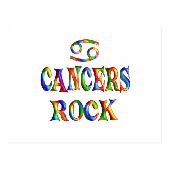Cancers Rock Postcard