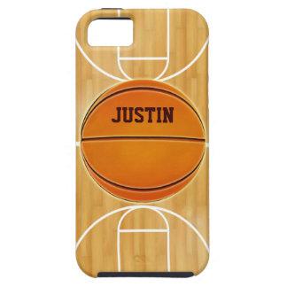 Cancha de básquet adaptable iPhone 5 funda
