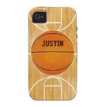 Cancha de básquet adaptable iPhone 4 fundas