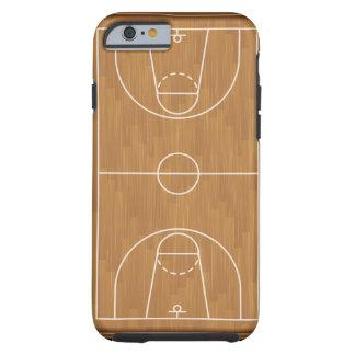 Cancha de básquet funda de iPhone 6 tough