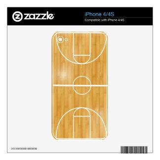 Cancha de básquet iPhone 4S calcomanía