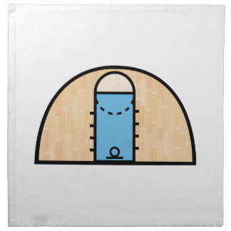Cancha de básquet servilleta imprimida