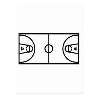 Cancha de básquet tarjeta postal