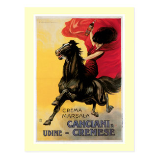 Canciani Cremese Vintage Wine Ad Art Post Cards