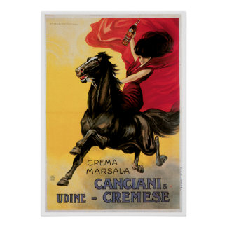Canciani & Cremese Vintage Wine Ad Art Poster