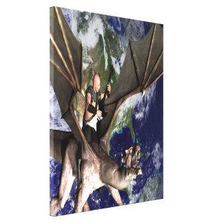 Canción 2 del dragón lienzo envuelto para galerias