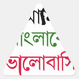 Canción bengalí pegatinas de trianguladas