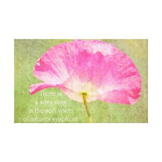 Canción bonita de la flor de la amapola lona envuelta para galerías