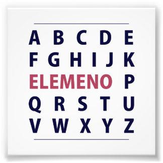Canción de Alphapbet ELEMENO del inglés Cojinete