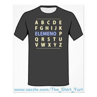 """Canción de Alphapbet ELEMENO del inglés Folleto 4.5"""" X 5.6"""""""