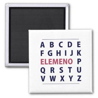 Canción de Alphapbet ELEMENO del inglés Imán Cuadrado