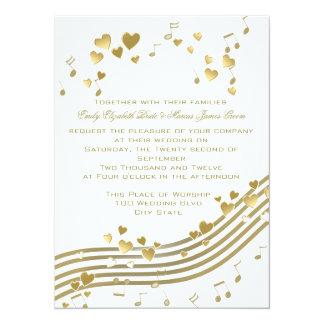 Canción de amor del boda invitación 13,9 x 19,0 cm