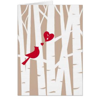 Canción de amor del el día de San Valentín cardin Felicitacion