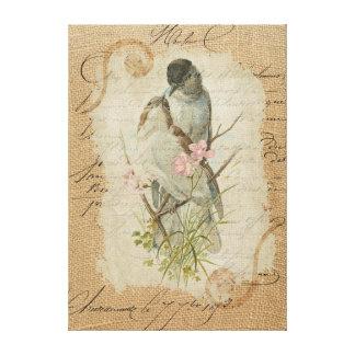 Canción de amor francesa de los pájaros del amor impresion de lienzo
