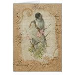 Canción de amor francesa de los pájaros del amor tarjeta de felicitación