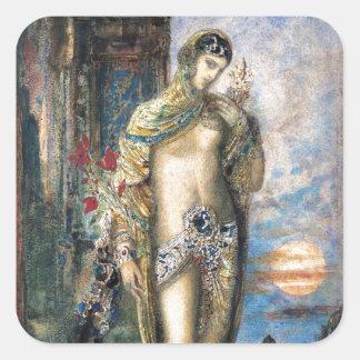 Canción de canciones de Gustave Moreau Pegatina Cuadrada