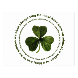 Canción de consumición irlandesa tarjeta postal
