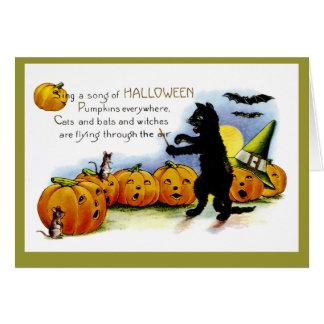 Canción de Halloween Tarjeton