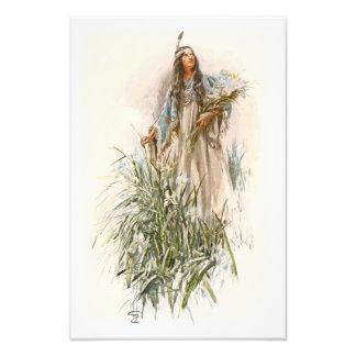 Canción de Harrison Fisher de Hiawatha la doncella Fotografía