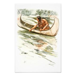 Canción de Harrison Fisher de la canoa india roja Fotografía