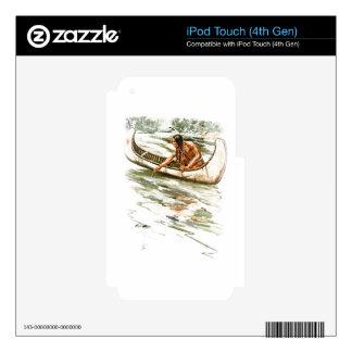 Canción de Harrison Fisher de la canoa india roja iPod Touch 4G Skins