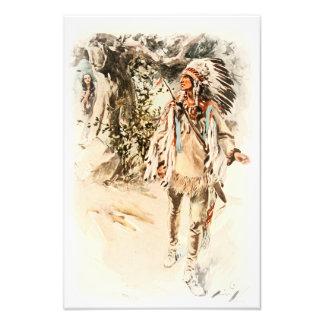 Canción de Harrison Fisher del indio rojo de Fotografía