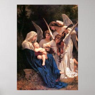 Canción de la bella arte de Bouguereau de los Póster