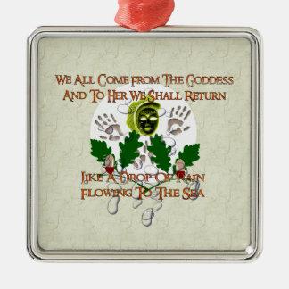 Canción de la diosa ornamento para arbol de navidad