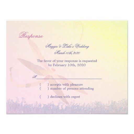 Canción de la libélula RSVP que se casa lírico Invitacion Personalizada