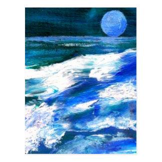 Canción de la luna - arte del océano de CricketDia Tarjetas Postales