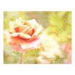 Canción de la primavera II - color de rosa anaranj Membrete Personalizado